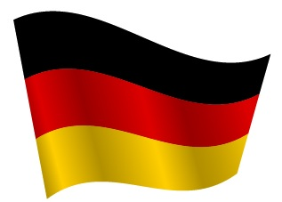 Drapeau de l'Allemagne avec ondulation