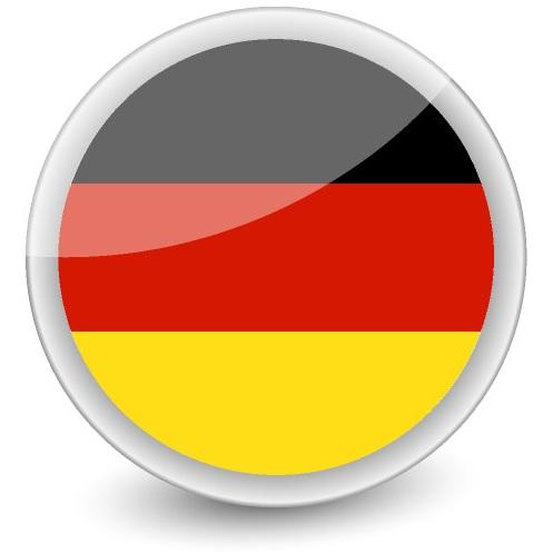 Drapeau de l'Allemagne en rond