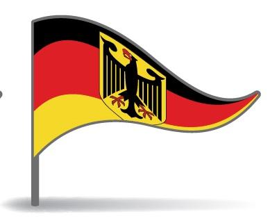 Drapeau triangulaire de l'Allemagne