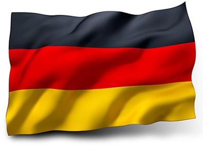 Drapeau de l'Allemagne avec vagues