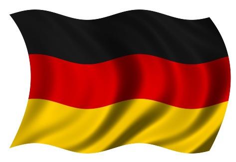 Drapeau Allemagne dans le vent