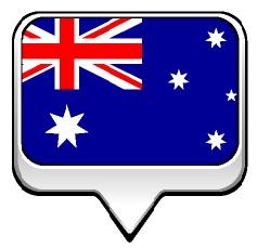 Drapeau de l'Australie en Bulle