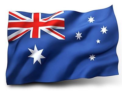 Drapeau de l'Australie ondulé (beau)
