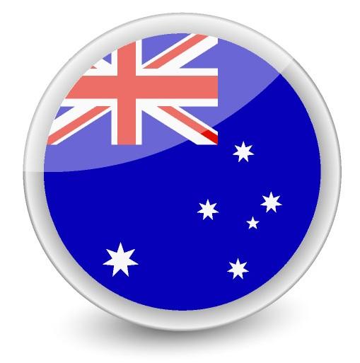 Drapeau de l'Australie en rond