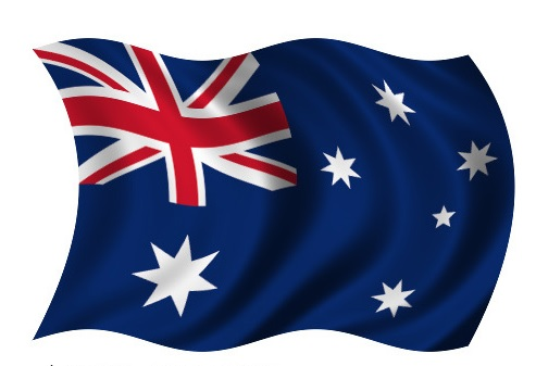 Drapeau de l'Australie en vague
