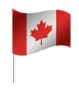 Drapeau du Canada avec pied