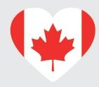 Drapeau du Canada en forme de coeur
