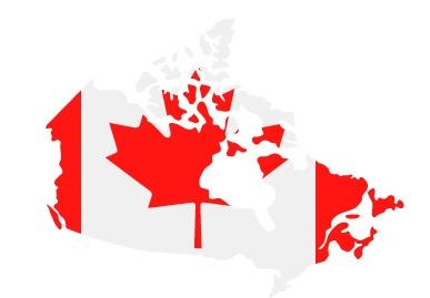 Drapeau du Canada en forme de pays