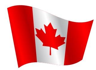 Drapeau du Canada avec ondulation