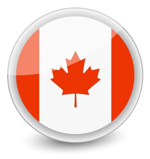 Drapeau du Canada rond