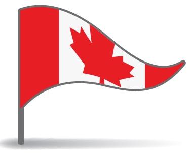 Drapeau triangulaire du Canada