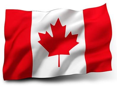 Drapeau du Canada avec vagues