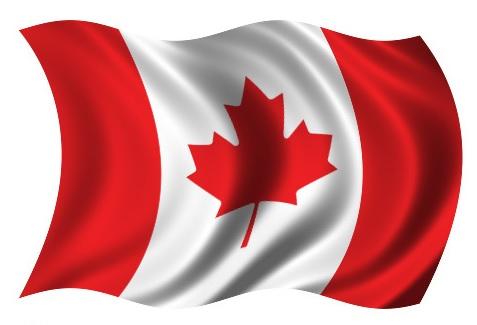 Drapeau Canada dans le vent