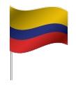 Drapeau de la Colombie avec pied