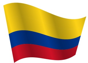 Drapeau de la Colombie avec ondulation