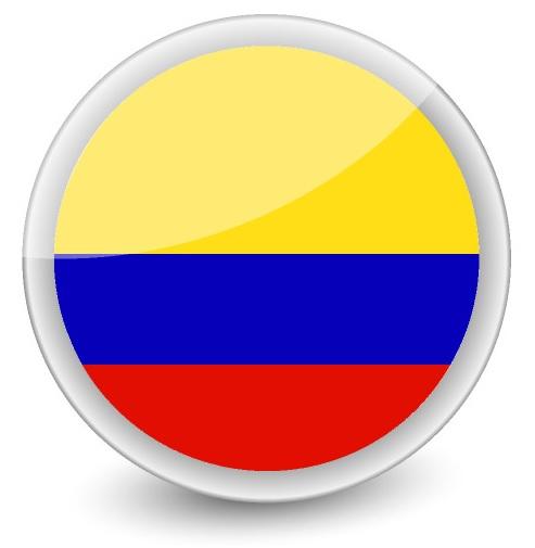Drapeau de la Colombie rond