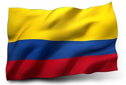 Drapeau de la Colombie avec vagues