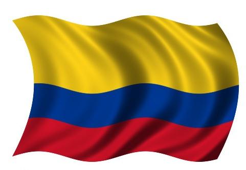 Drapeau Colombie dans le vent