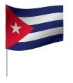Drapeau de Cuba avec pied