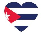 Drapeau de Cuba en forme de coeur