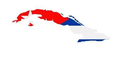 Drapeau de Cuba en forme de pays