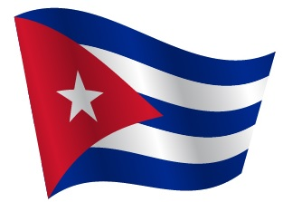 Drapeau de Cuba avec ondulation