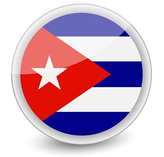 Drapeau de Cuba rond