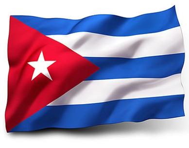 Drapeau de Cuba avec vagues