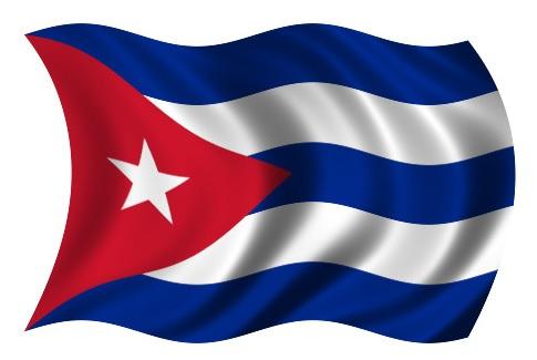 Drapeau Cuba dans le vent