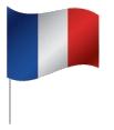 Drapeau de la France avec pied