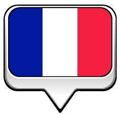 Drapeau bulle de la France
