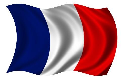 Drapeau France dans le vent