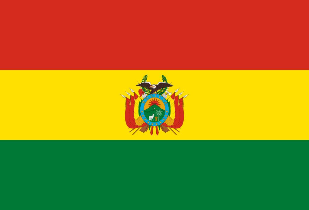 Drapeau libre de droit de la Bolivie