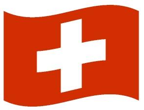Drapeau ondulé de la Suisse