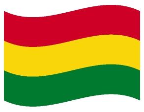 Drapeau ondulé de la Bolivie