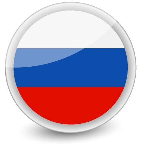 Drapeau de la Russie en rond