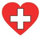 Drapeau Suisse en forme de Coeur