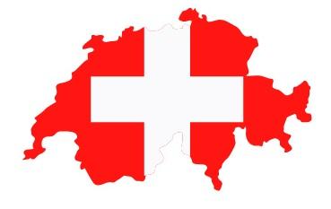 Drapeau de la Suisse en forme de pays