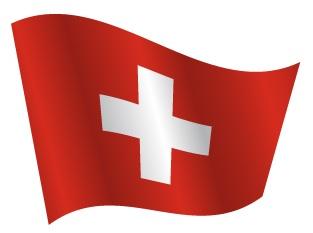 Drapeau avec ondulation de la Suisse