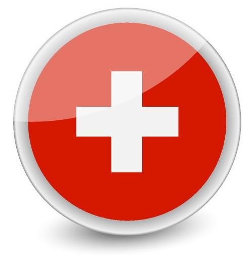 Drapeau de la Suisse rond