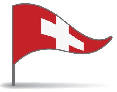 Drapeau triangulaire de la Suisse