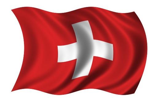 Drapeau de la Suisse avec Vagues