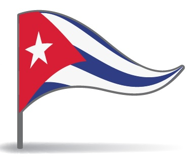 Drapeau triangulaire de Cuba