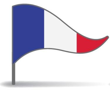 Drapeau triangulaire de la France