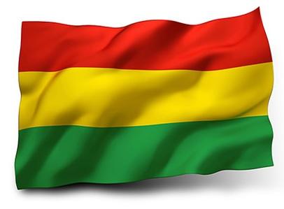 Drapeau Bolivie dans le vent