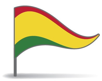 Drapeau triangulaire de la Bolivie
