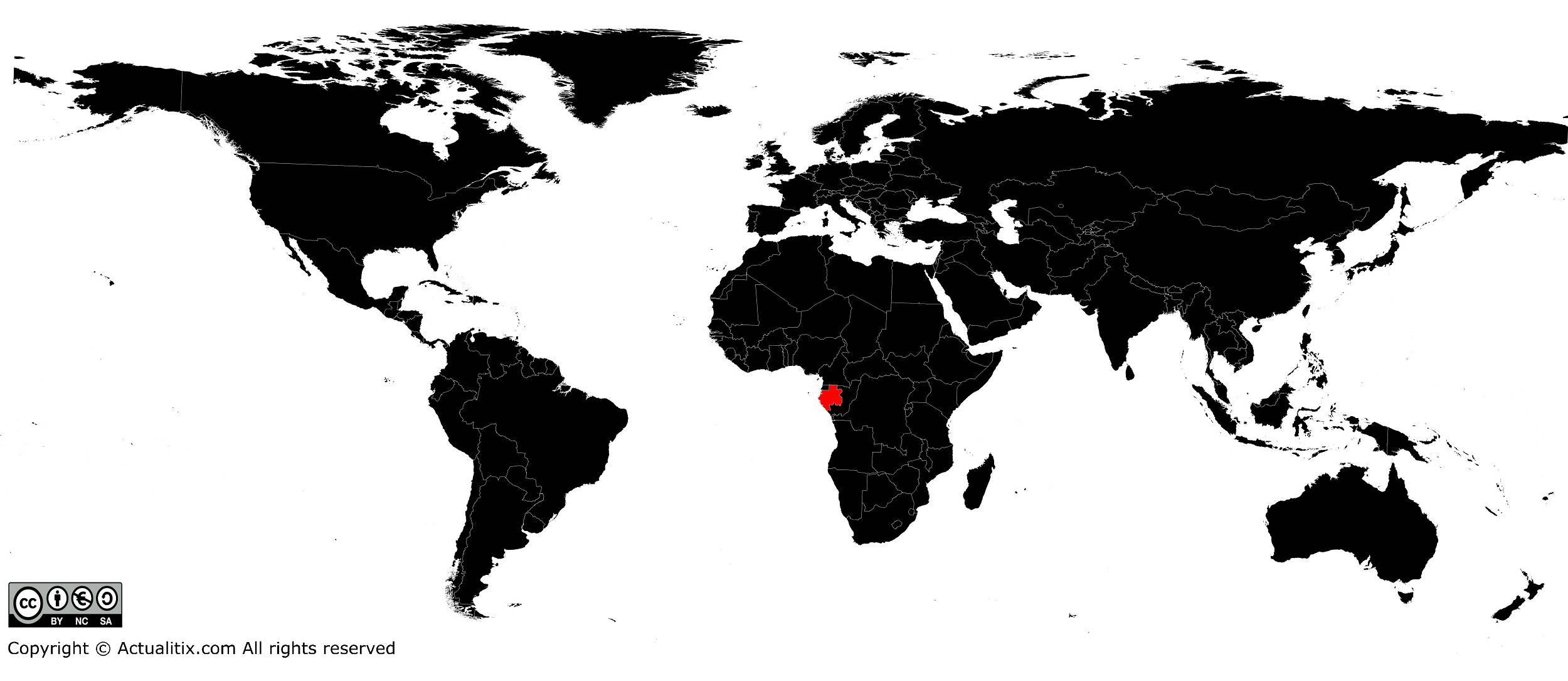Gabon sur une carte du monde