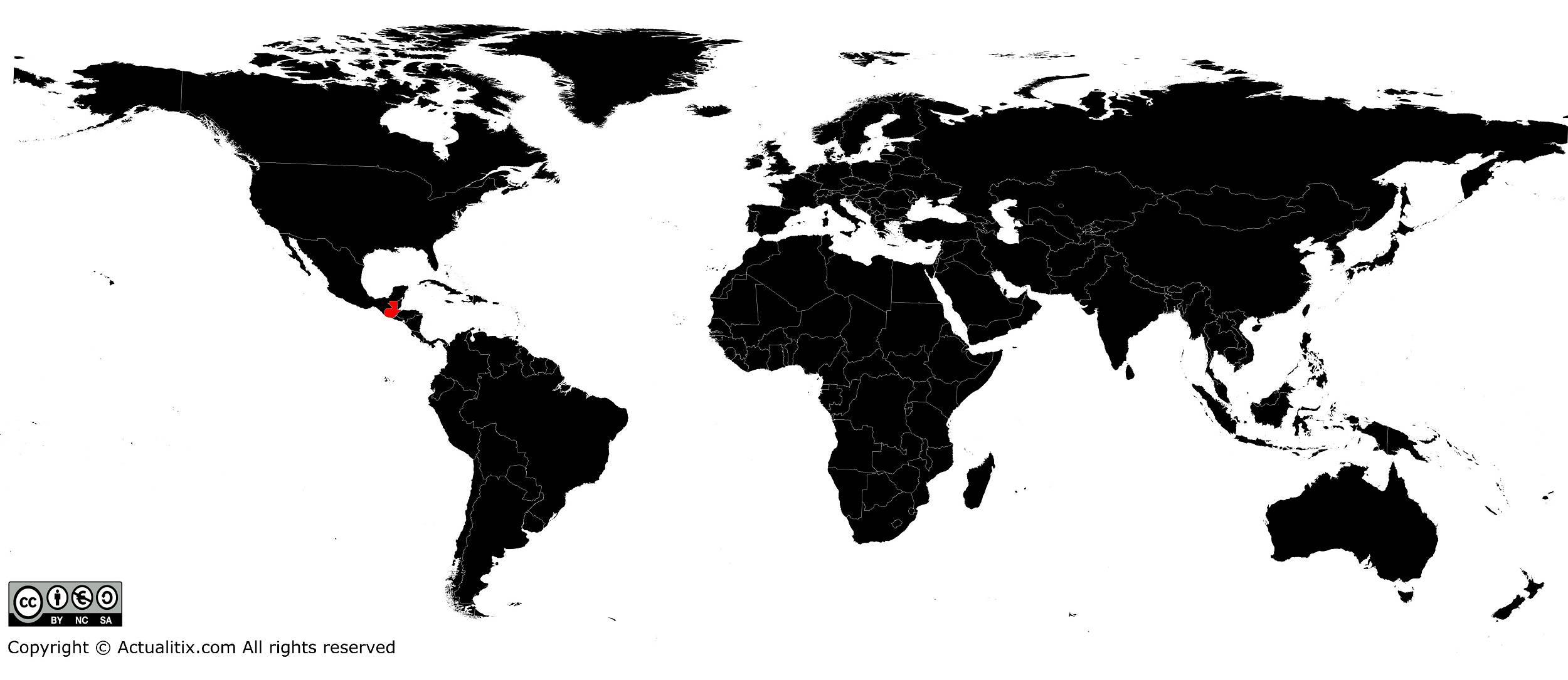 Guatemala sur une carte du monde