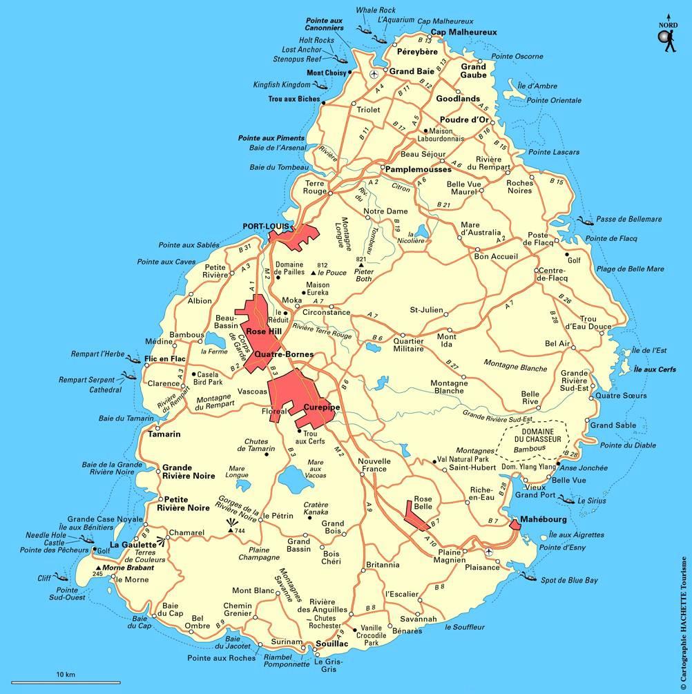 Hervorragend Carte de l'Île Maurice - Plusieurs cartes du pays en Afrique YU79