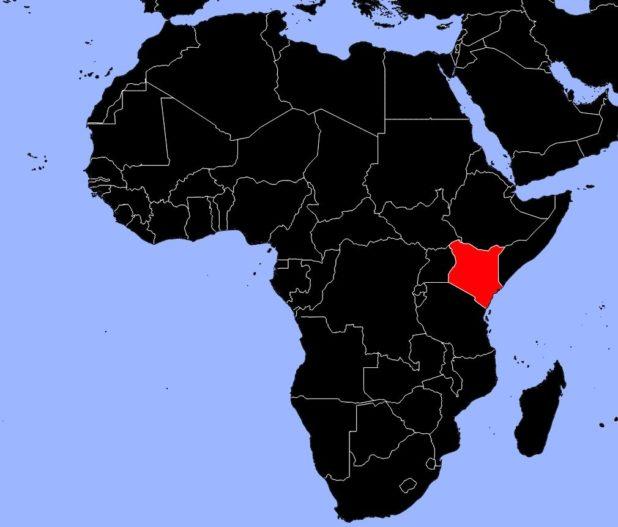 Kenya carte Afrique